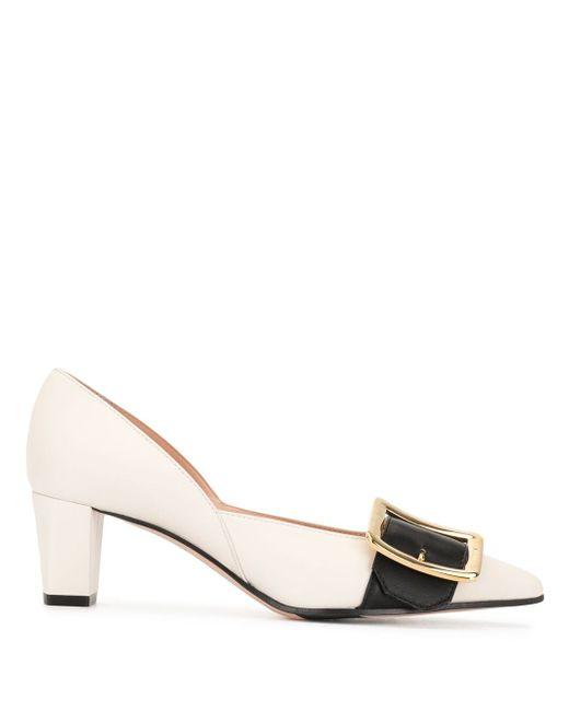 Женские белые туфли лодочки натуральная кожа — цена 110